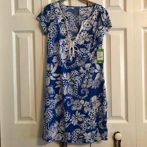 Lilly Puliter Brewster Dress Blue NWT
